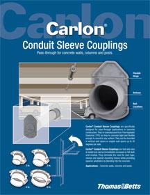 Carlon 174 conduit sleeve couplings pass through for concrete walls